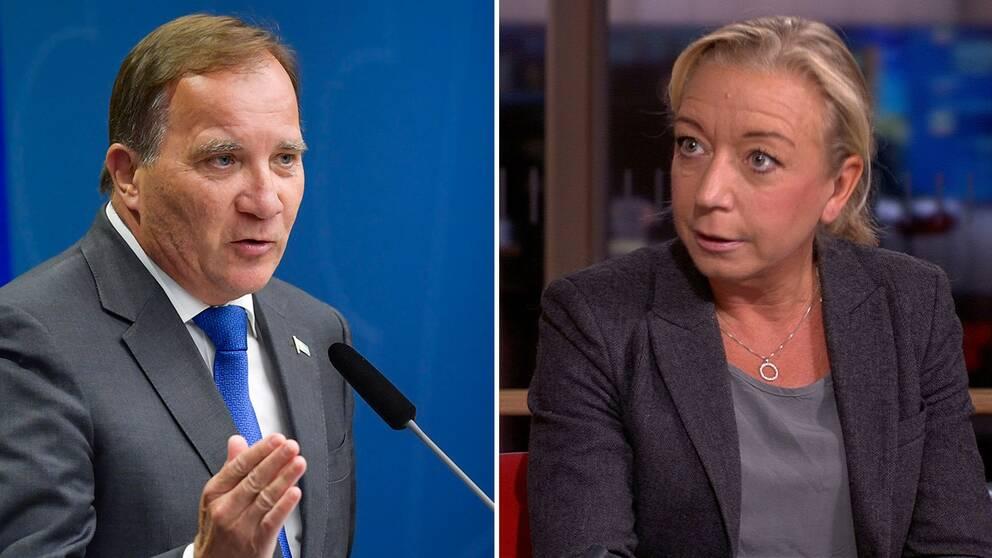Stefan Löfven och SVT:s Elisabeth Marmorstein