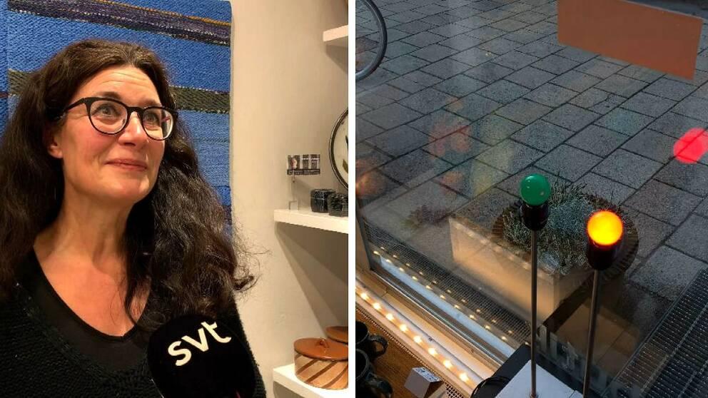 I videon berättar Kamilla Kvarnevik vid hur många kunder det blir rött ljus.