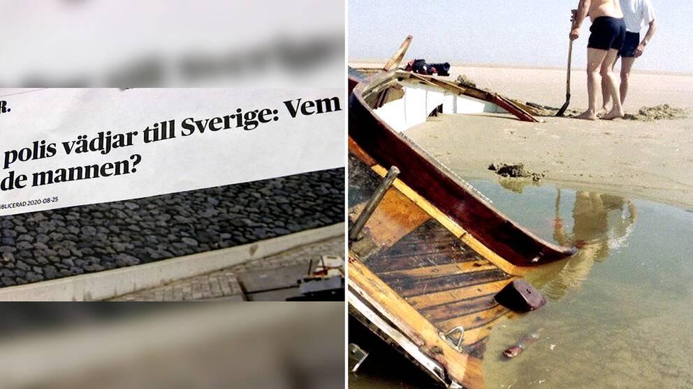 Båten efter en drunknad seglare som hittades 1995.