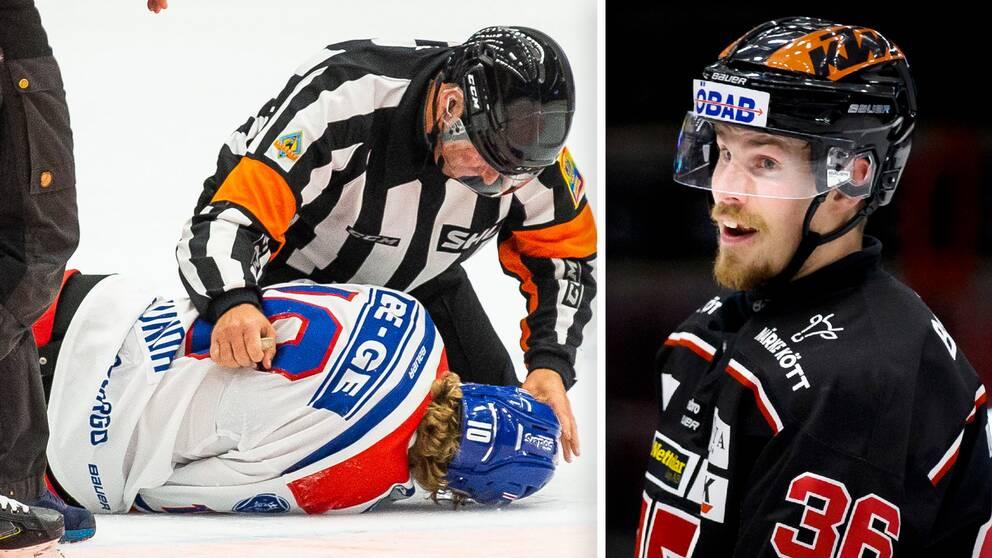 Emil Larsson stängs av fem matcher för tacklingen på Oscar Sundh (varning för starka bilder).