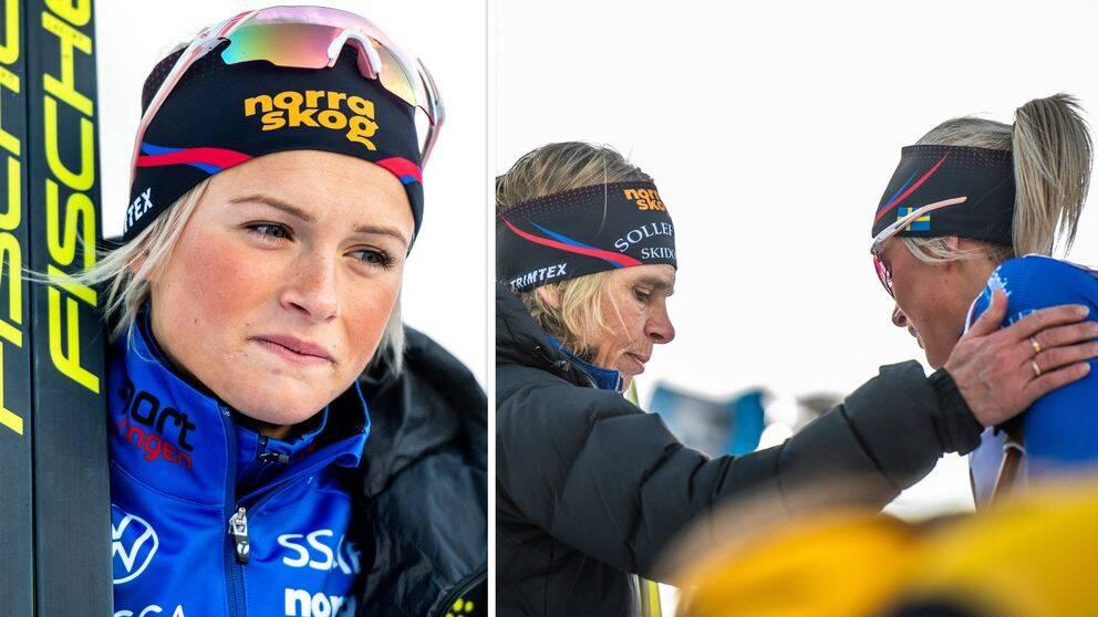 Frida Karlsson har störts av en inflammerad höft i den klassiska åkningen.