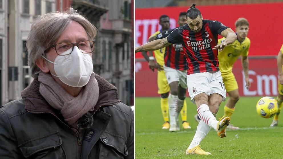 Fotbollskommentatorn Raffaele Auriemma är förvånad över hur bra Zlatan Ibrahimovic har varit.
