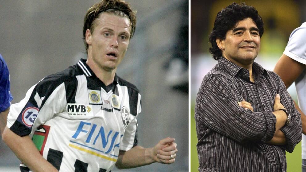 Karl Corneliusson spelade i Napoli 2004-2005 och återvände sedan hem till Sverige och Landskrona. Under tiden i Italien upplevde han Maradonas enorma status.