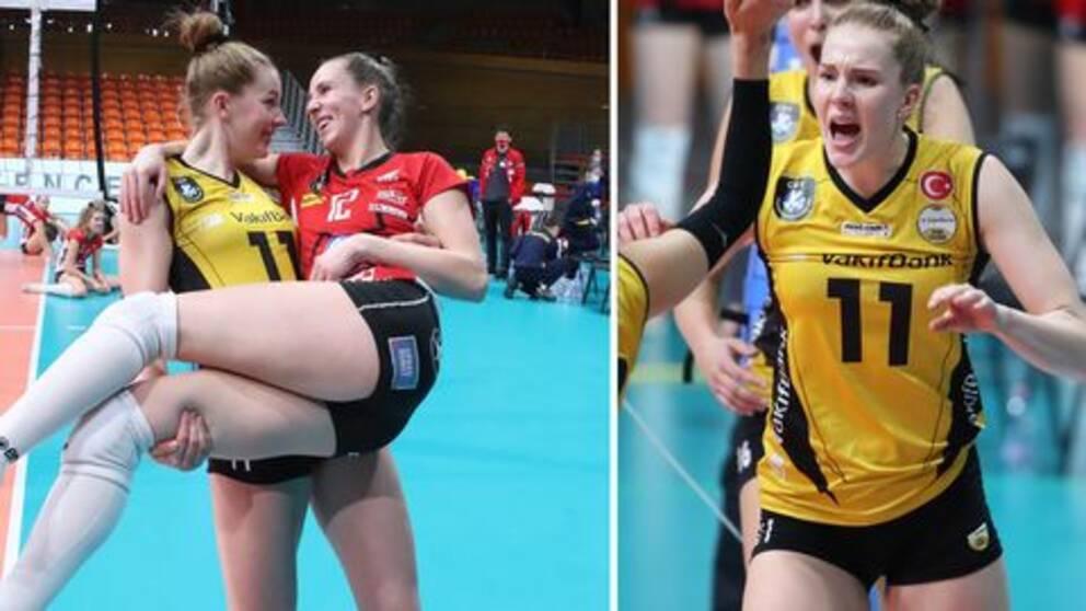 Isabelle och Anna Haak möttes i Champions League