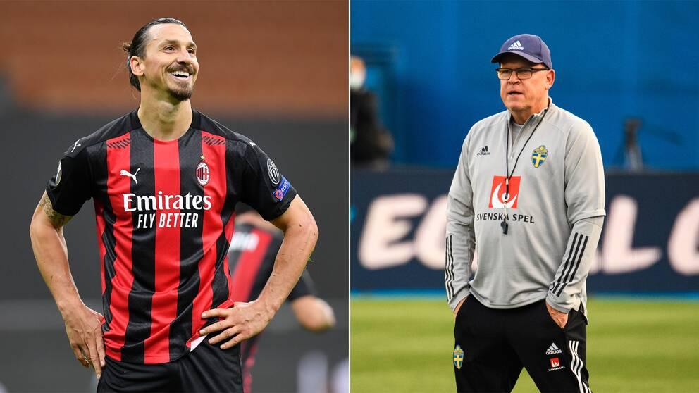 Zlatan Ibrahimovic och Janne Andersson.