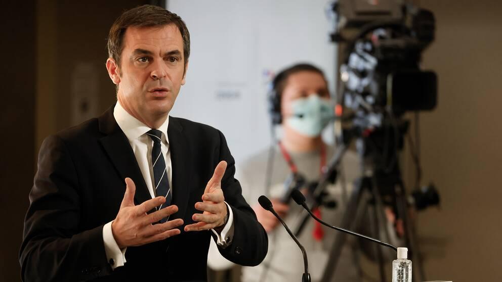 Frankrikes sjukvårsminister Olivier Veran.