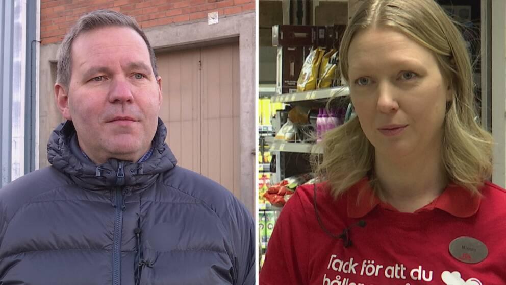 en man och en kvinna i Horndal