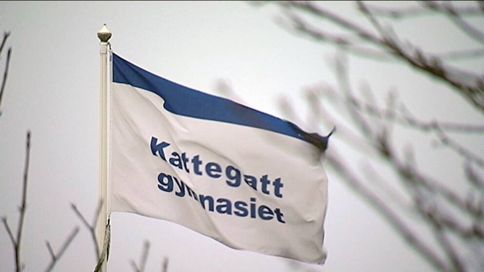 flagga på kattegattsgymnasiet