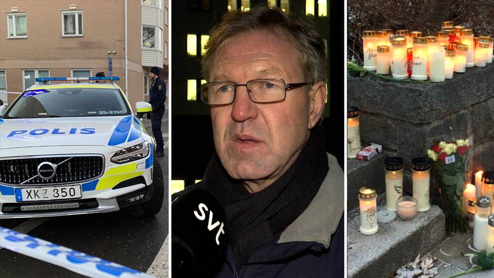 veckansnyheter i bilder – en polisbil, en man med glasögon, och tända ljus