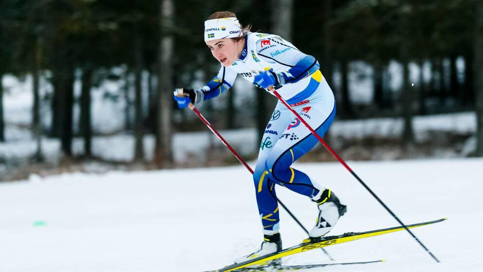 Ebba Andersson var snabb i spåren i Östersund.