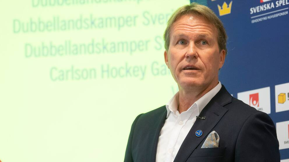 Sveriges förbundskapten Johan Garpenlöv