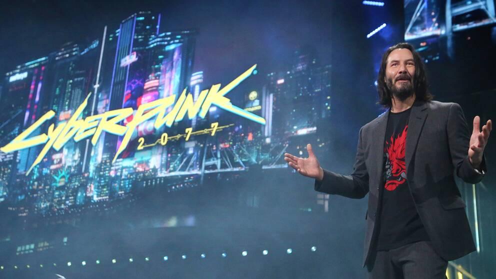 Keanu Reeves spelar rollen som Johnny Silverhand i spelet Cyberpunk 2077.
