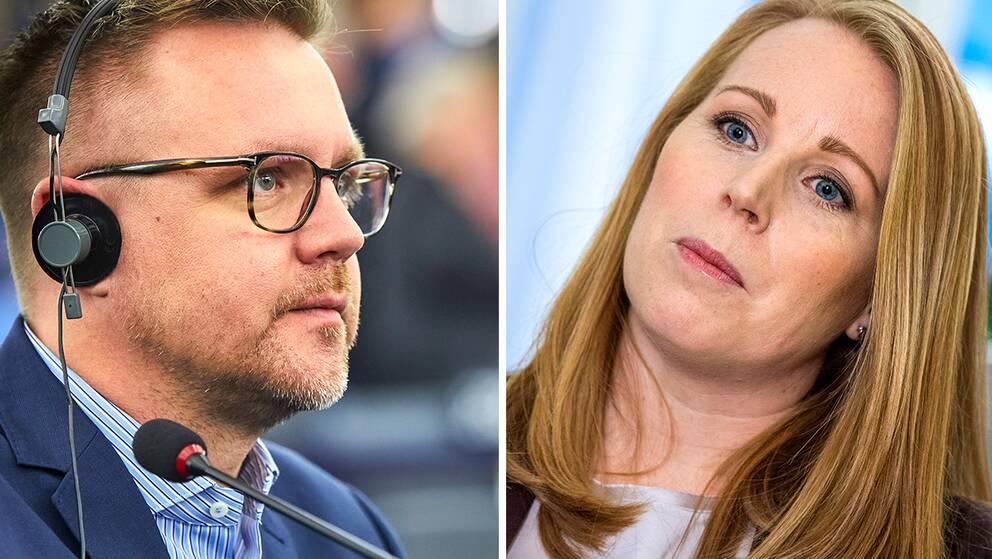 Centerpolitikern Federley och partiledare Annie Lööf.