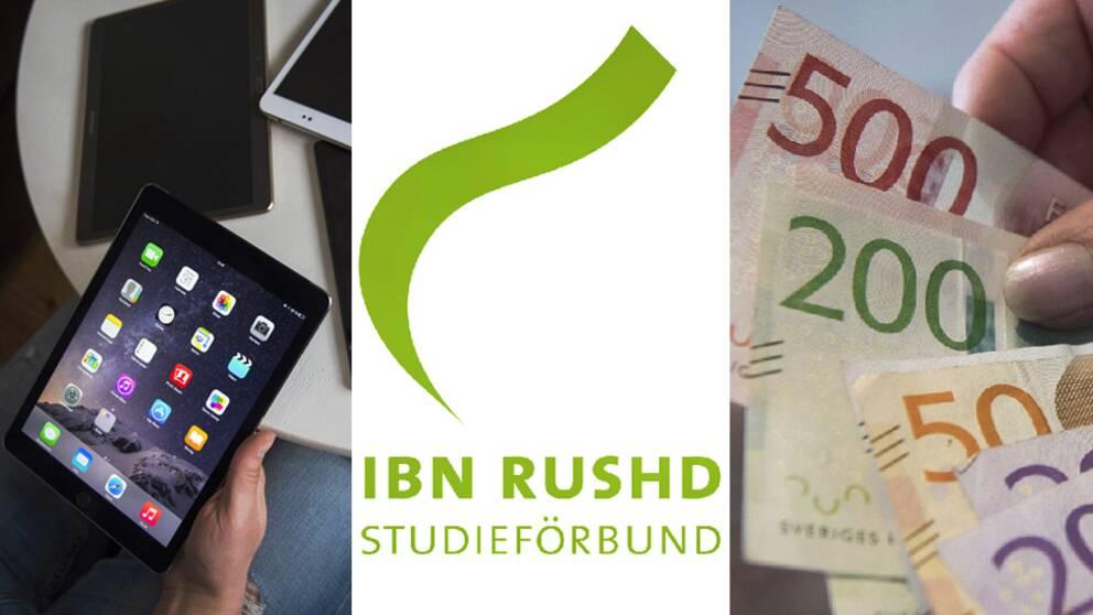 Bland annat misstänker man att studieförbudent Ibn Rushd har betalat ut pengar för saker som inte borde ha ersatts – bland annat läsplattor för cirka 42000 kronor.