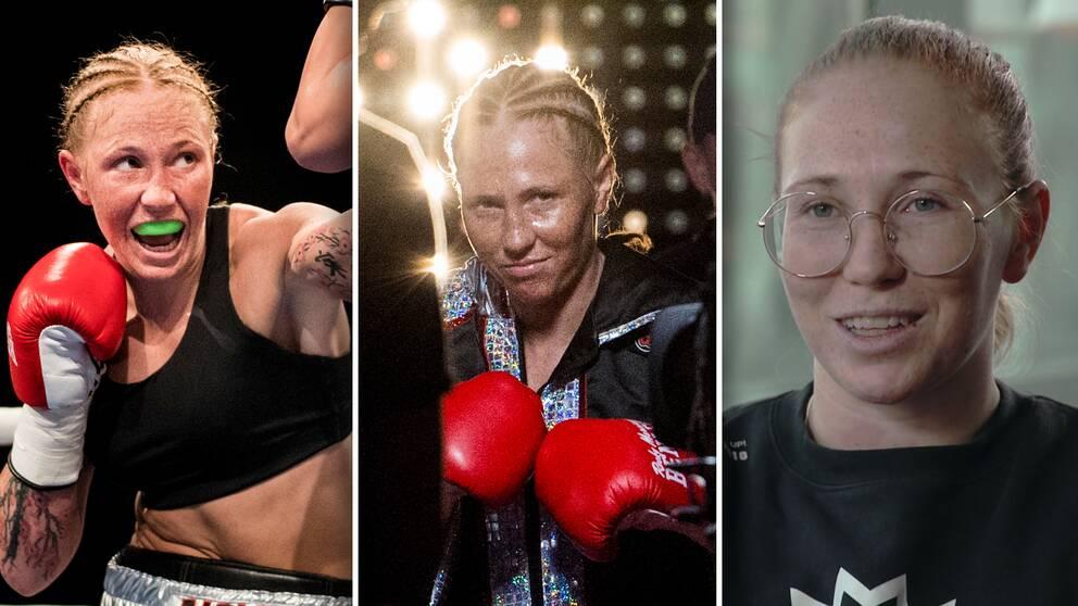 Boxaren Patricia Berghult är världsmästare i superweltervikt (69,9 kilo).