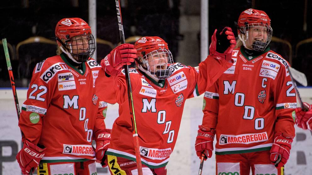 Modo fick jubla efter en rysare mot Brynäs.