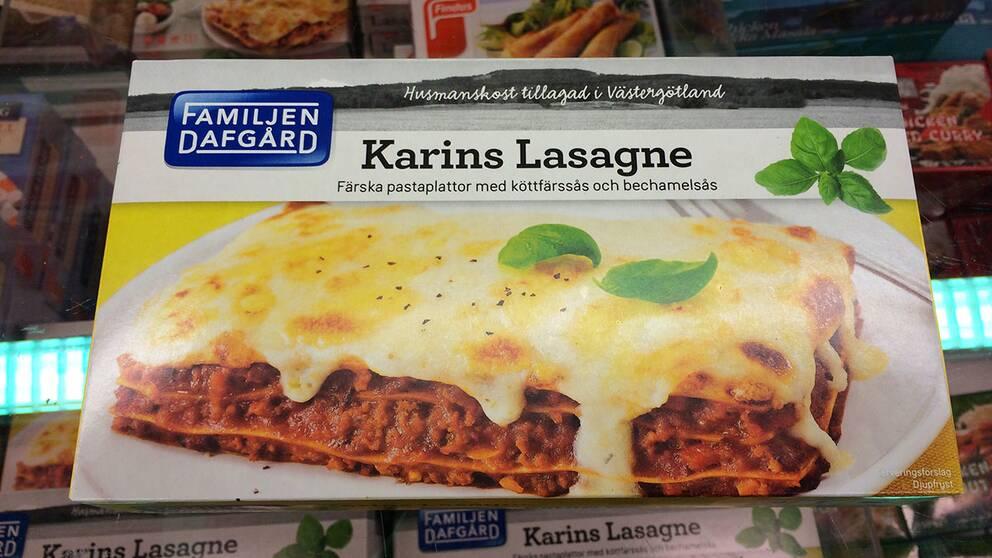 Karins lasagne, tillverkare Dafgårds Salt per 100 gram: 0,9 g Salt per portion: 3,5 g