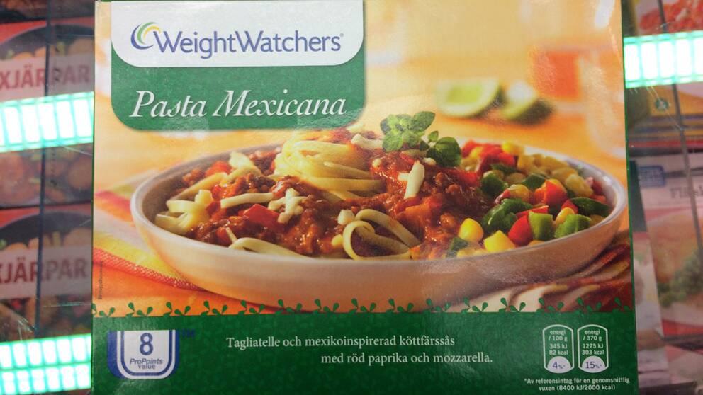 Pasta Mexicana, tillverkare Weight Watchers Salt per 100 gram: 0,51 Salt per portion: 1,9