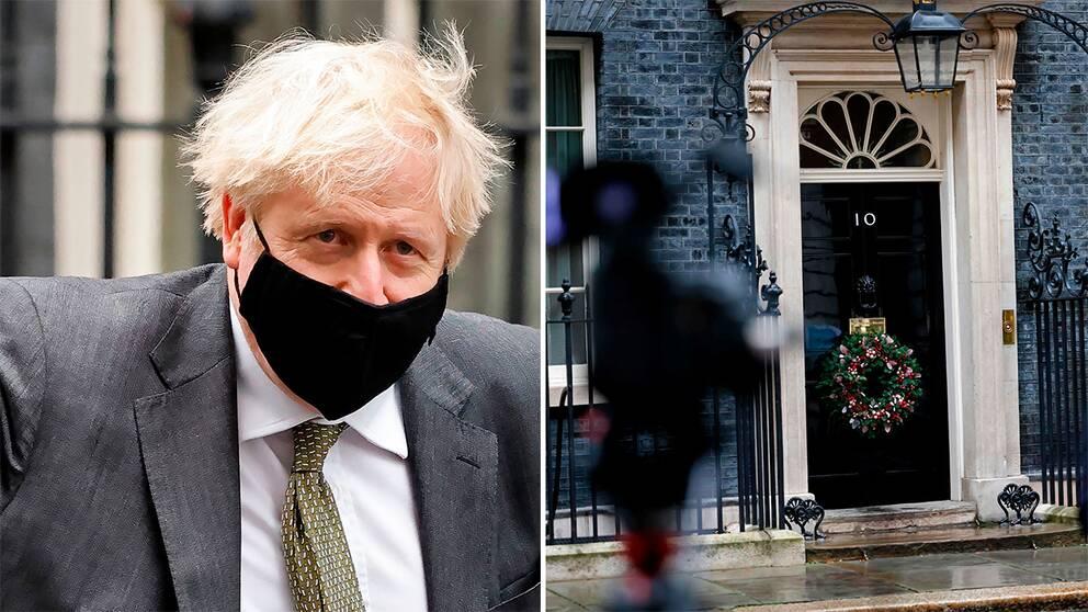 Storbritanniens premiärminister Boris Johnson. 10 Downing Street.