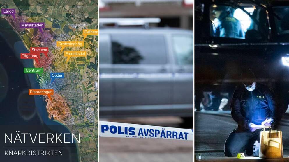 Helsingborgs undre värld är uppdelad mellan ett tiotal kriminella nätverk – se kartläggningen.