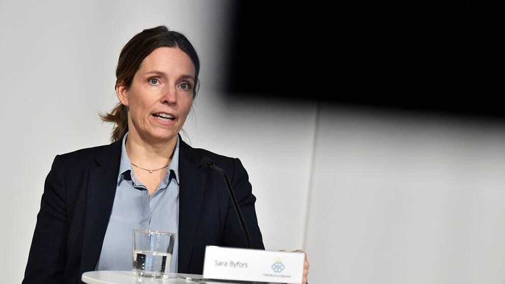 Sara Byfors, enhetschef på Folkhälsomyndigheten.