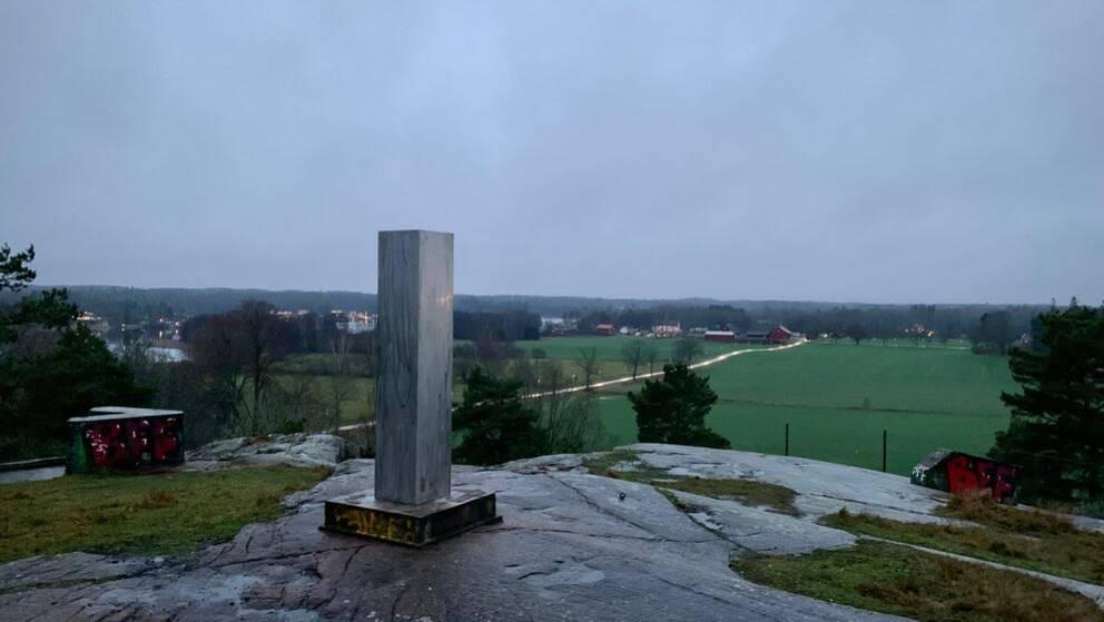 Monoliten på Gatstuberg utanför Katrineholm upptäcktes på tisdagen.