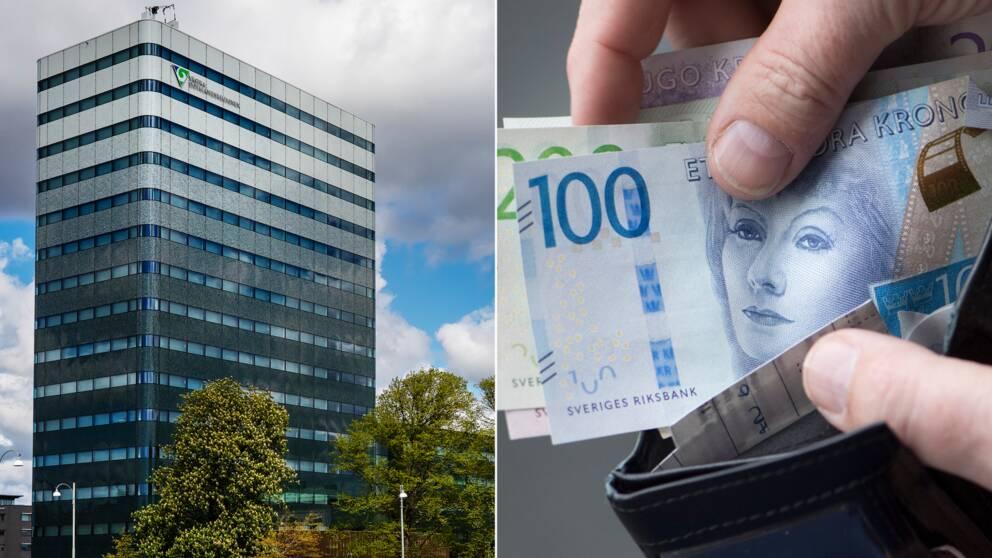 Regionens hus i Göteborg delat med bild på pengar