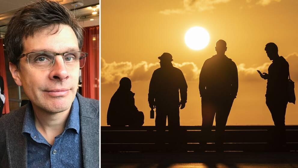 De höga temperaturerna beror på en kombination av väder och global uppvärmning, enligt Erik Kjellström, professor i klimatologi på SMHI.