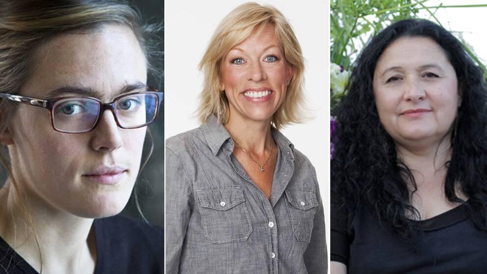 Lotten Collin, Ginna Lindberg och Irene Molina.