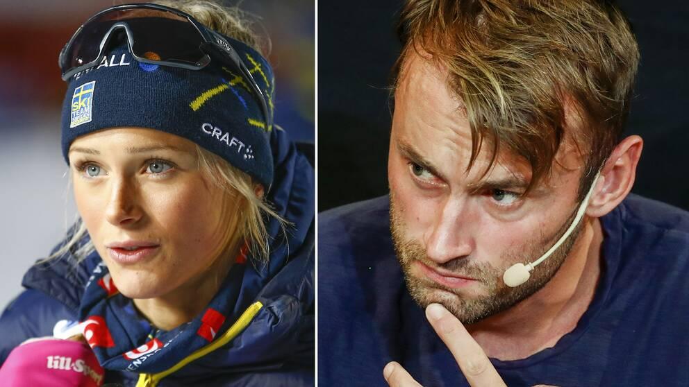 Frida Karlsson och Petter Northug.
