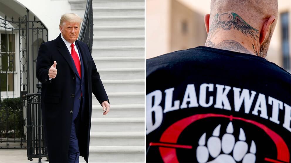 Donald Trump/Man som tidigare var anställd av Black water
