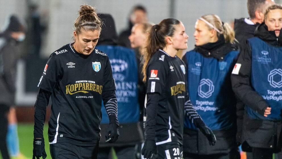 Filippa Angeldahl deppar efter en förlust mot Manchester City i Champions League.