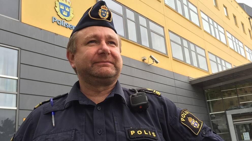 Kommunpolis Scott Goodwin i Växjö