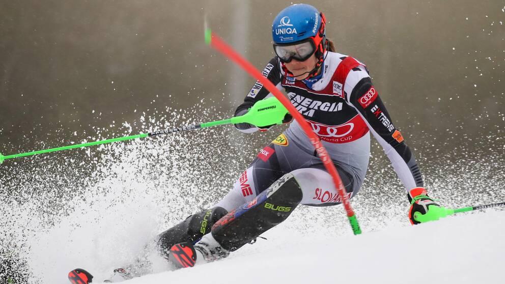 Petra Vlhova vann slalomen i Zagreb.