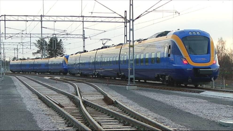 Arkivbild tåg Norrtåg
