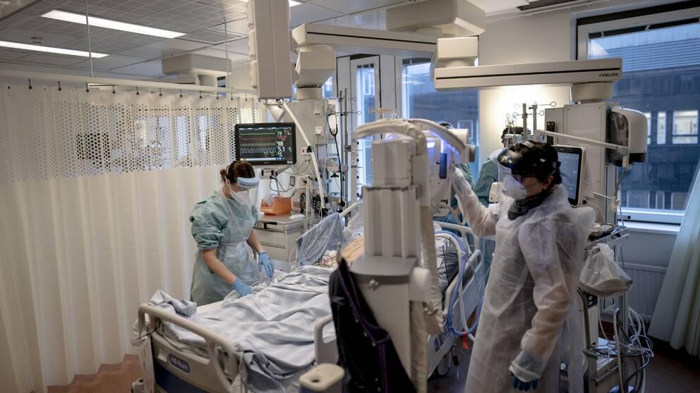 Covid IVA avdelning på Östra Sjukhuset / SU.