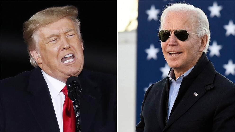 Biden och Trump.