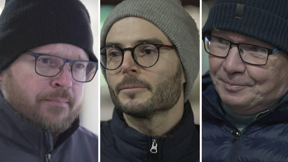 I bilden tre män från Västerås.