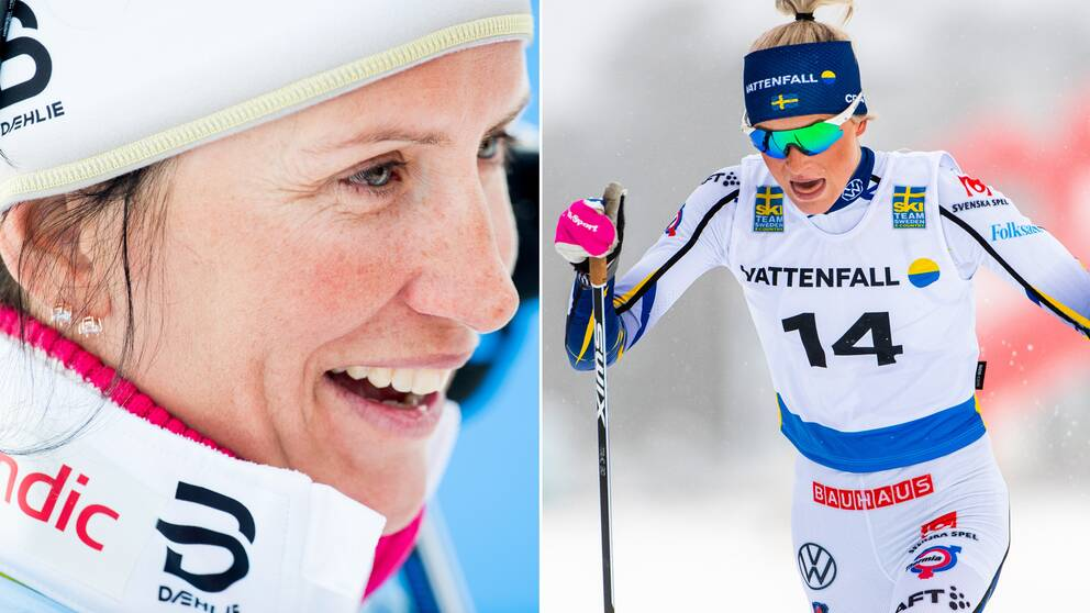 Marit Björgen och Frida Karlsson.
