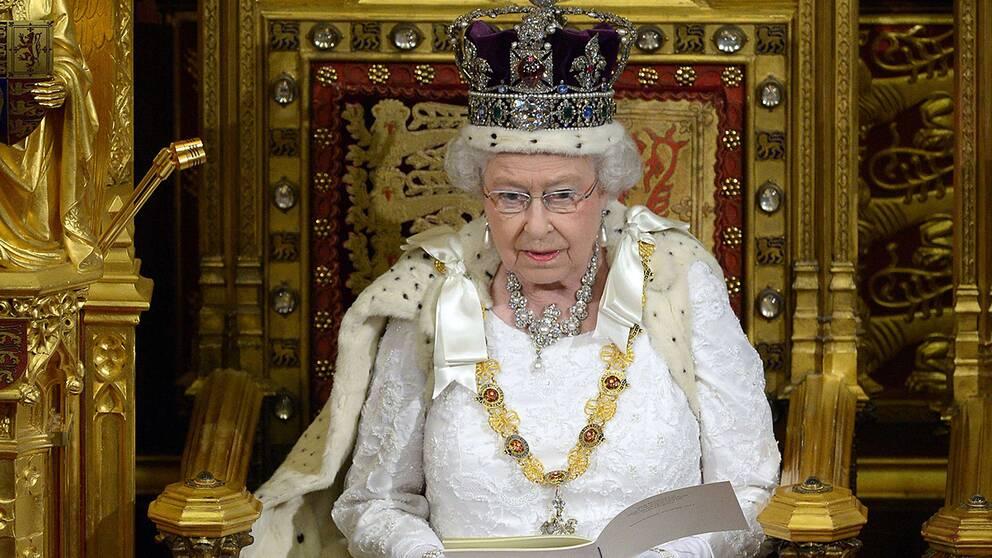 Drottningen håller talet 2014