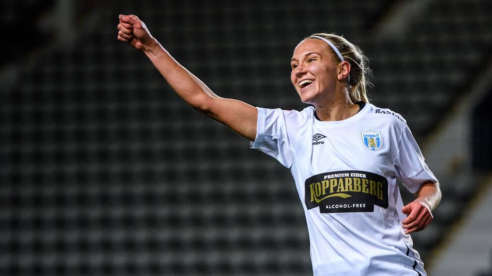 Göteborgs Emma Koivisto jublar under en match mot Linköping.
