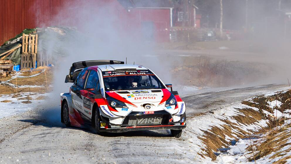 Elfyn Evans under svenska rallyt i februari 2020.