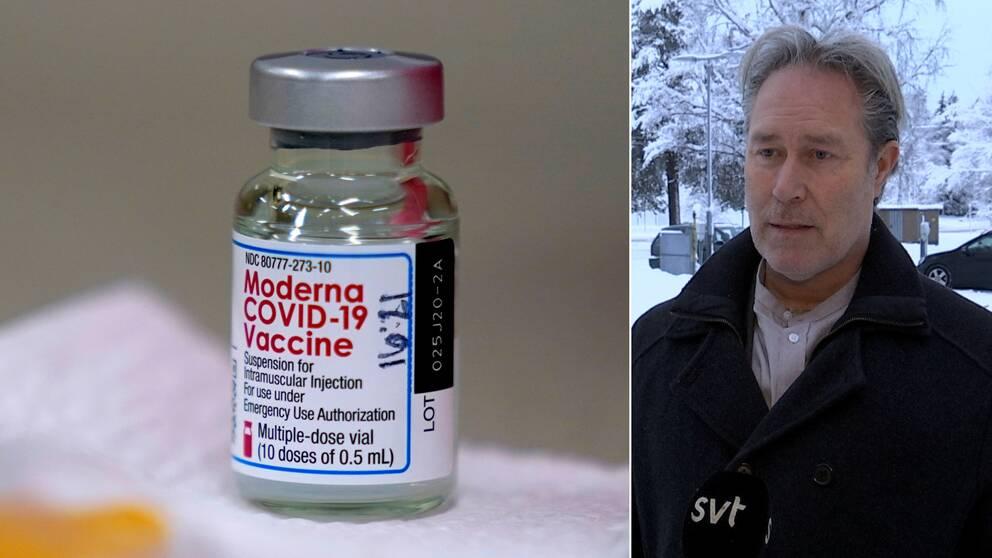 En bild på Modernas vaccin mot covid-19