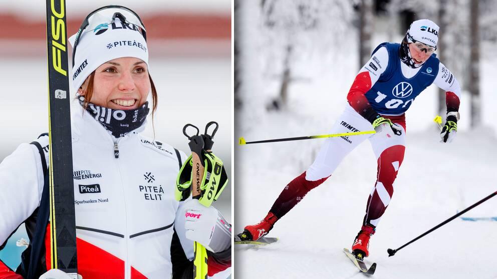 Charlotte Kalla, Piteå Elit SK, efter skidloppet över 15 km klassisk stil i Östersund.
