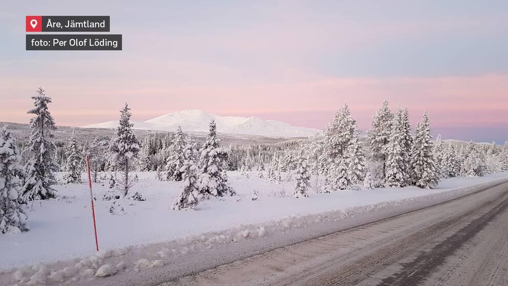 Från Husåvägen mot Åreskutan den 9 januari.