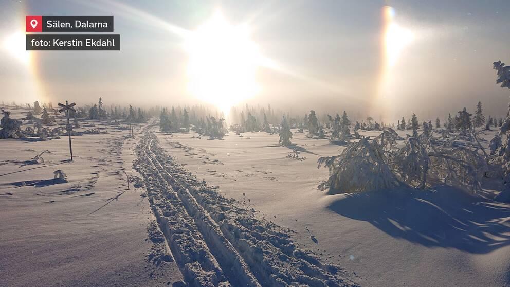 Halofenomen i Sälen, Dalarna den 10 januari.