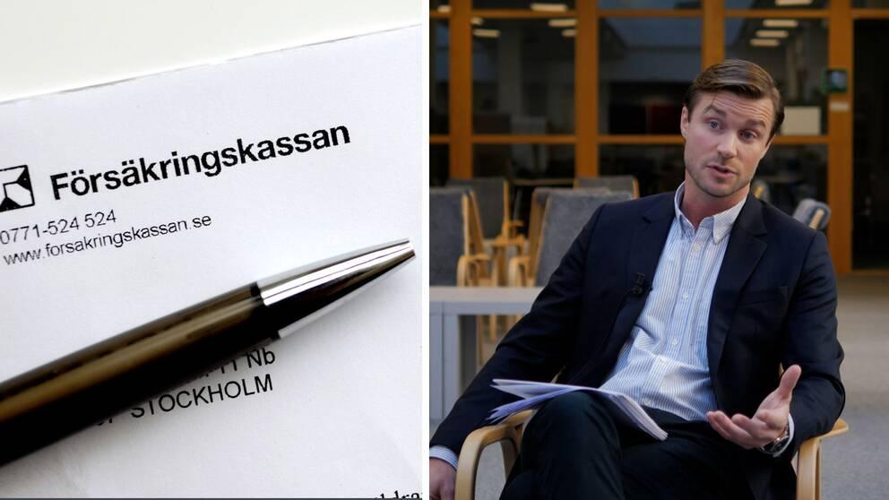 Linus Nordenskär, samordnare på Försäkringskassan,