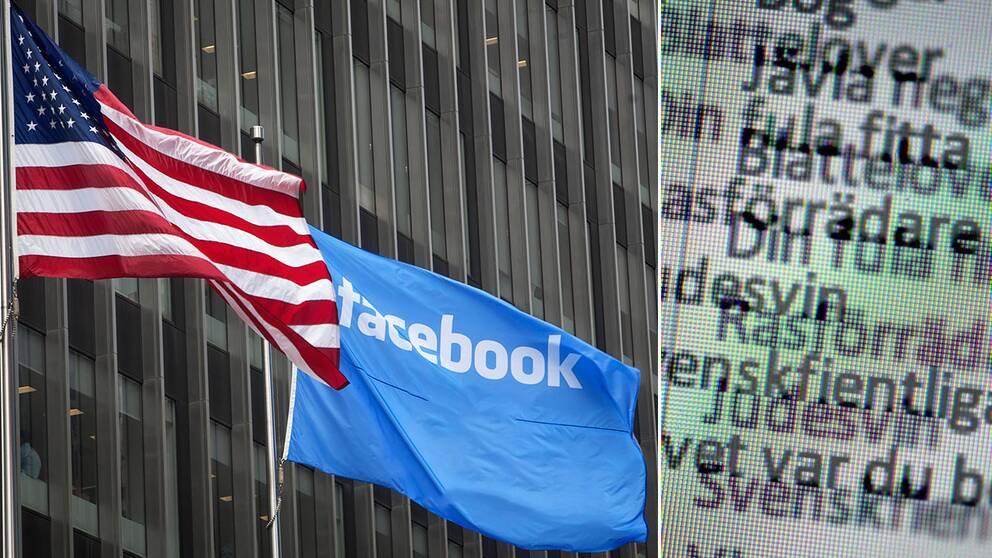 Hot på svenska Facebook-konton kan inte leda till åtal.