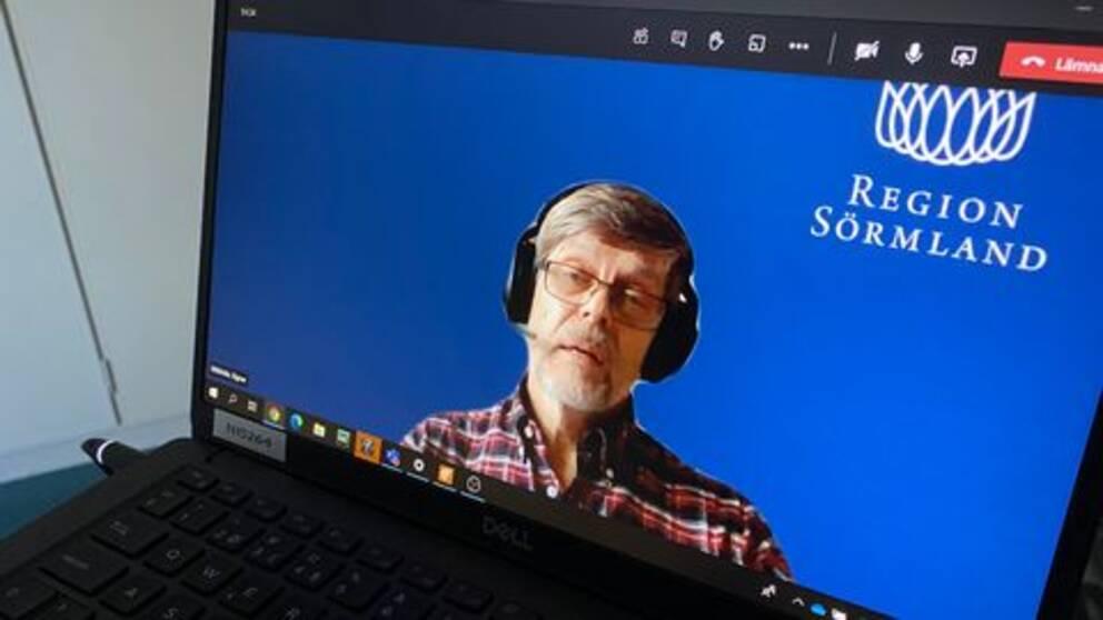 Signar Mäkitalo syns på en datorskärm under en videointervju
