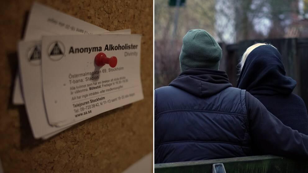 Stödgrupper för missbrukare har tvingats dra ner i hela Sverige, till följ av coronapandemin.